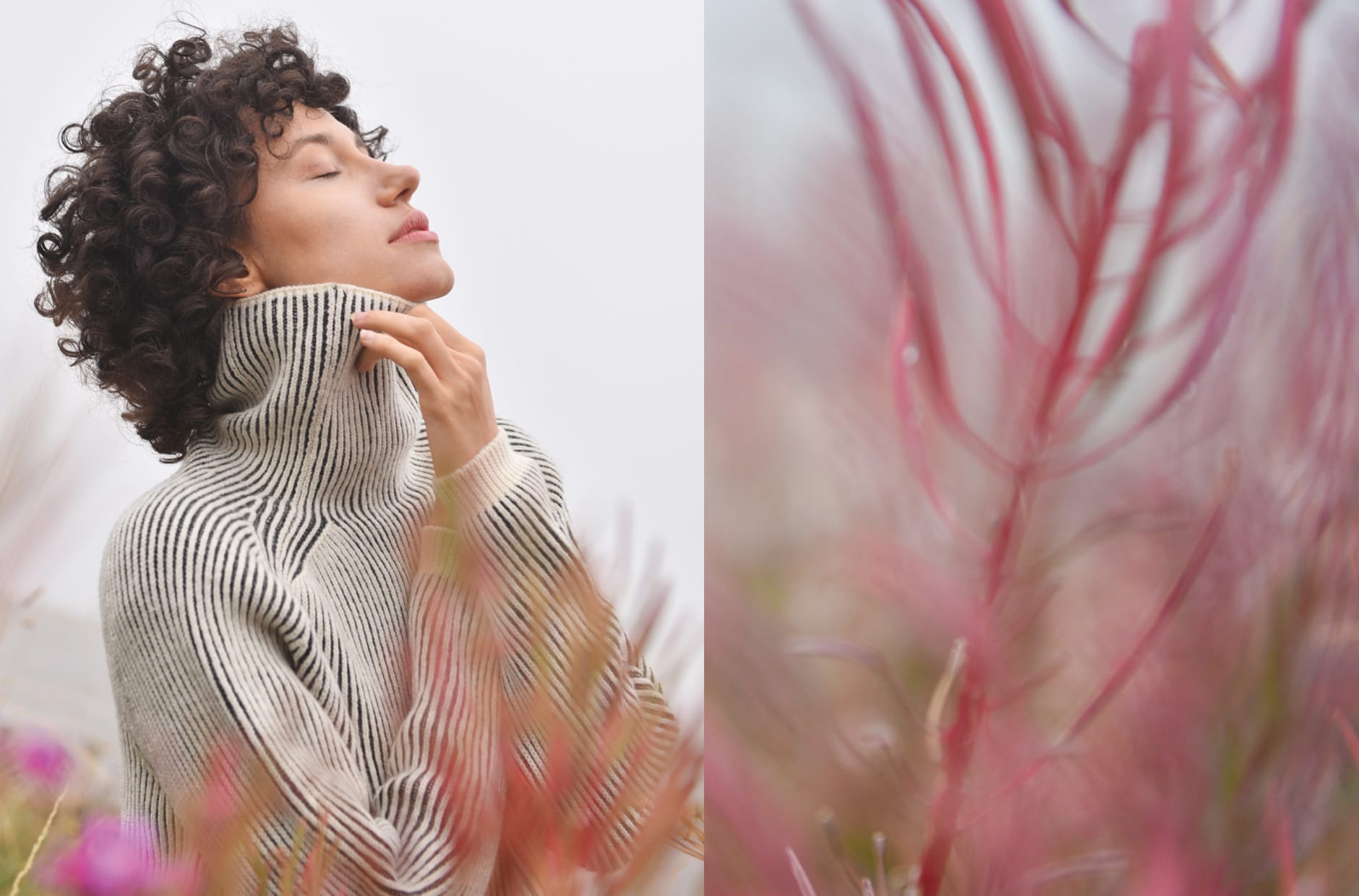 FW 20 - Capture the Fog - knitwear in organic wool fabric natural dye LULLABY