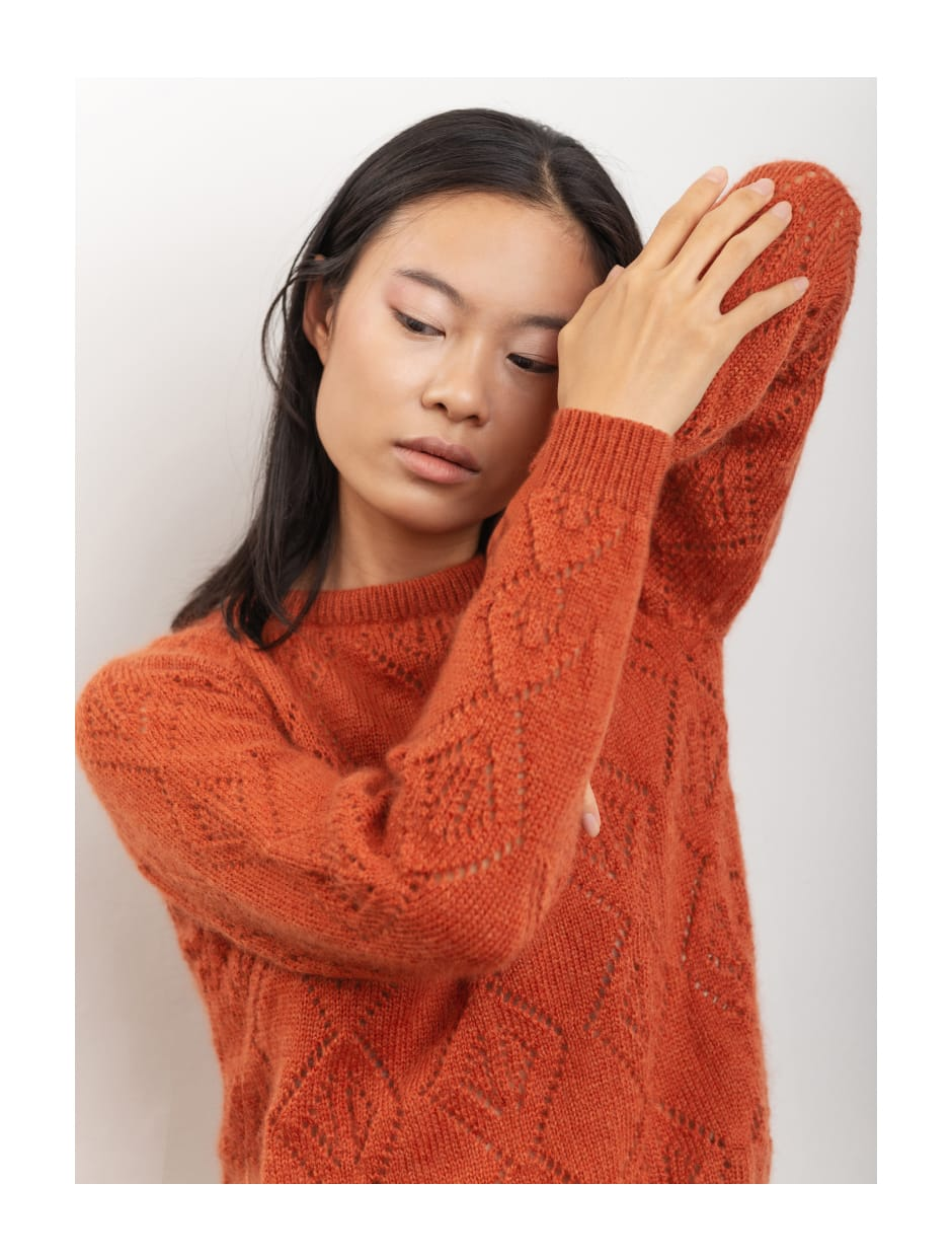 FW 20 - Capture the fog - handmade knitwear in wool and mohair fabric CALLA