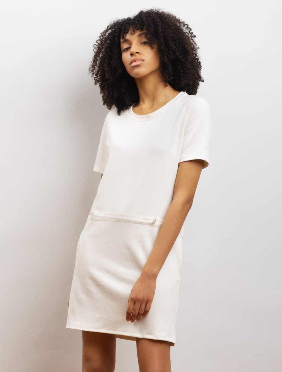bamboo dress white color