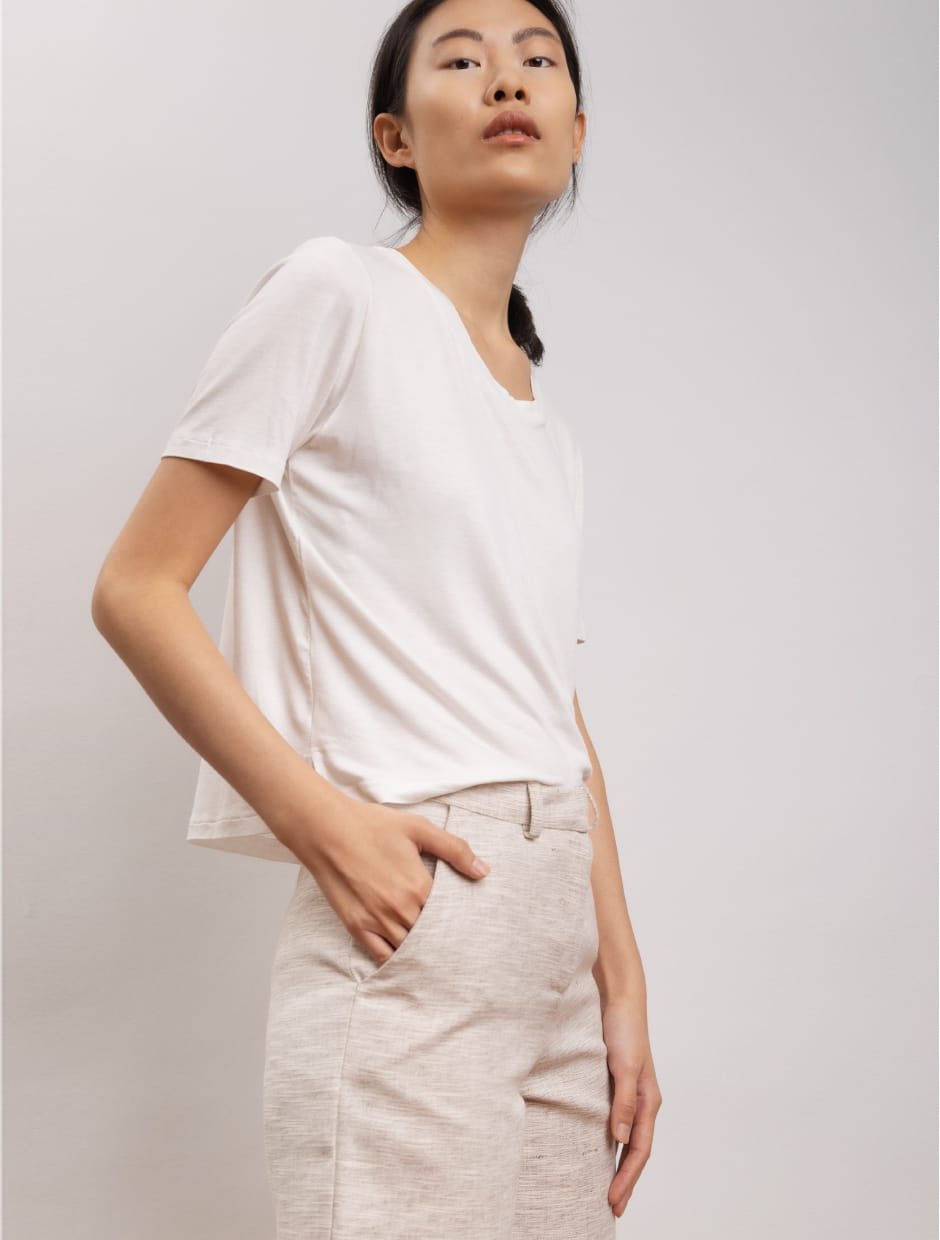 bamboo t-shirts organic materials white color