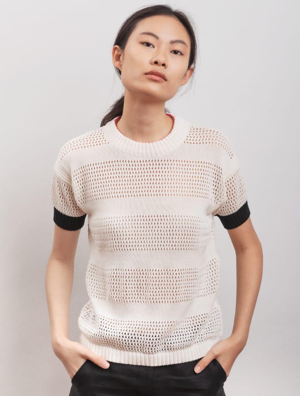 hand made knitwear in organic cotton