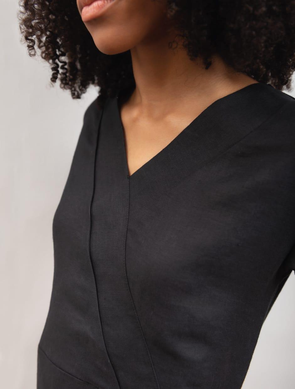 HEMP DRESS BLACK