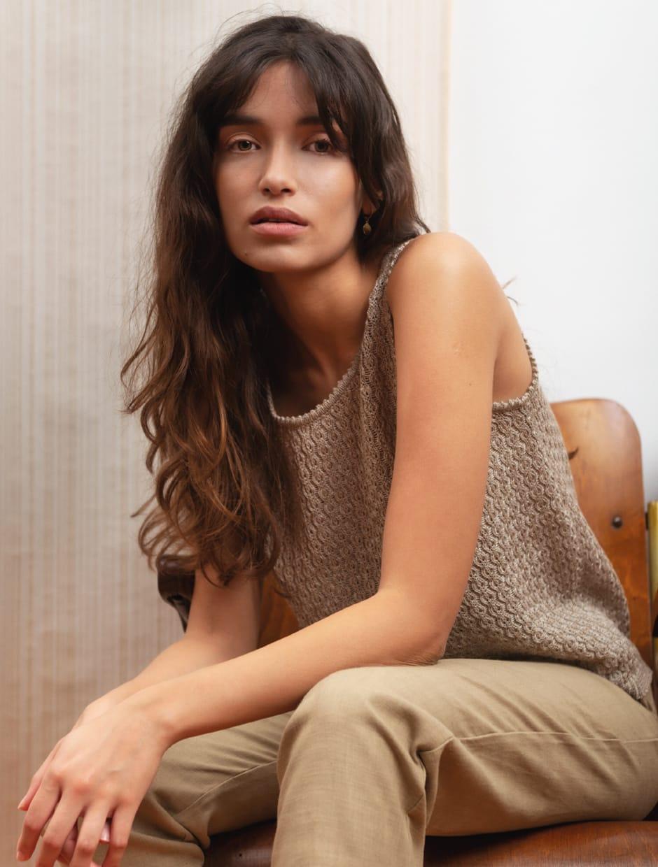 SS 20 - Desert song - organic materials cotton knitwear tank