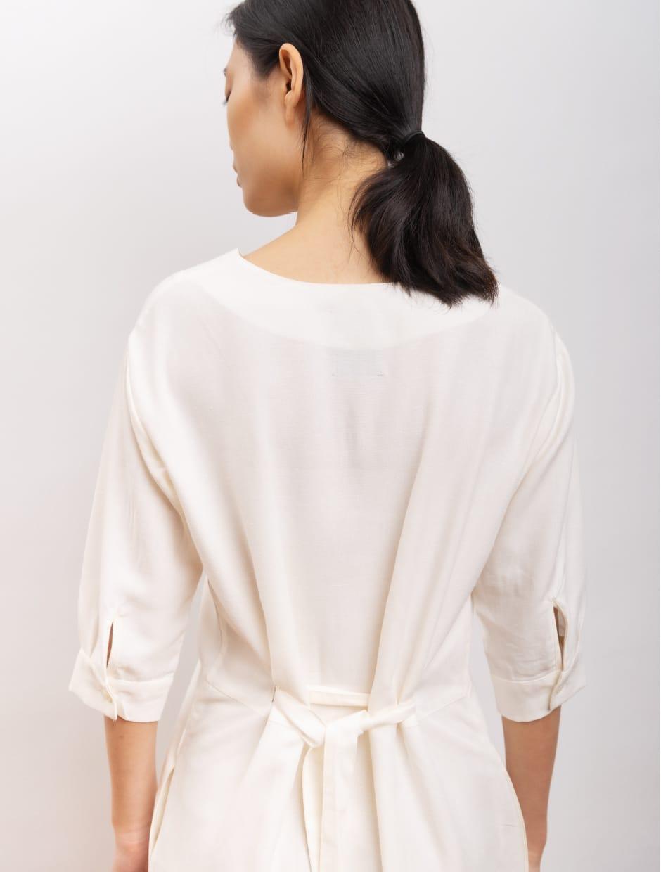 SS 20 - Desert song - organic materials dress white color